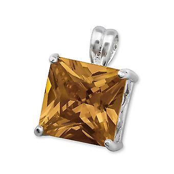 Square - 925 Sterling Silver Jewelled Pendants