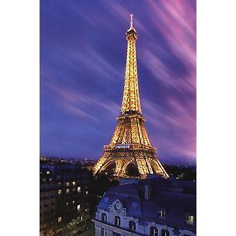 برج إيفل في طباعة الملصق ملصق الغسق