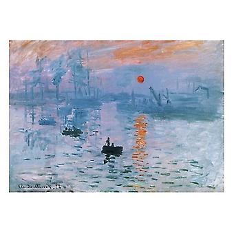 Stampa del manifesto di Impression Soleil Levant di Claude Monet (32 x 24)
