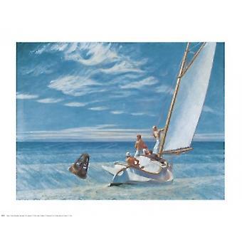 Impression Poster Ground Swell par Edward Hopper (30 x 24)