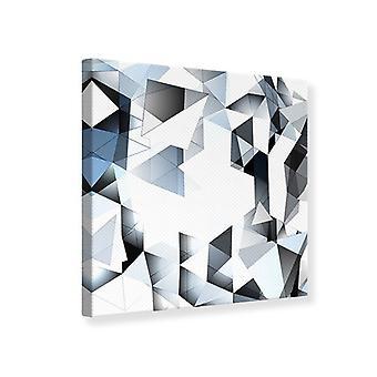 Canvas Print 3D Crystals