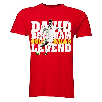David Beckham England Legend T-Shirt (Red) - Kids