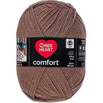 Red Heart Comfort Yarn-Taupe E707D-3243
