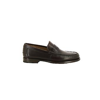 Salvatore Ferragamo men's 0660690-MC brown leather moccasins