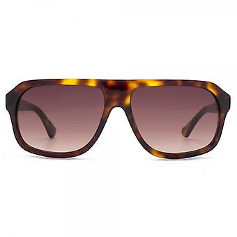 French Connection Premium Boxy Plastic Pilot Sunglasses In Tortoiseshell