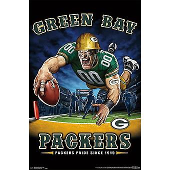 Green Bay Packers - målzone plakat Print