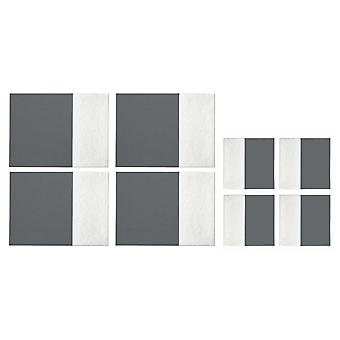 Premier Housewares Leather Effect Placemats and Coasters, Grey