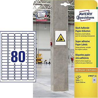 Avery-Zweckform L7872-20 Labels (A4) 35.6 x 16.9 mm Paper