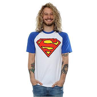 DC Comics Men's Superman Logo Baseball T-Shirt