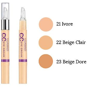 2 x Bourjois Parijs 123 perfecte CC Eye Cream Concealer 1,5 ml SPF15 - 22 licht Beige