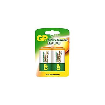 GP Batteriadapter R6 R14/R20 2-pack