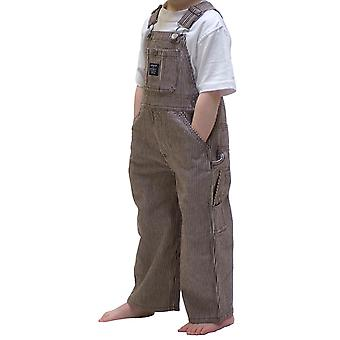 Key Industries Childrens Dungarees - Brown Stripe Age 9m-4y Kids Bib Overalls