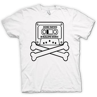 Womens T-shirt - Home Taping Piracy - Funny