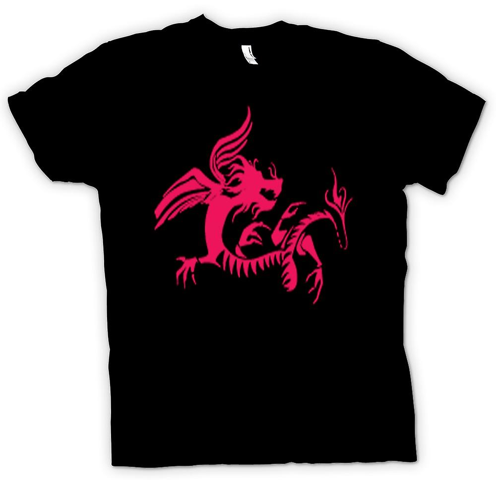 Kids t-skjorte-Dragon Tribal Design