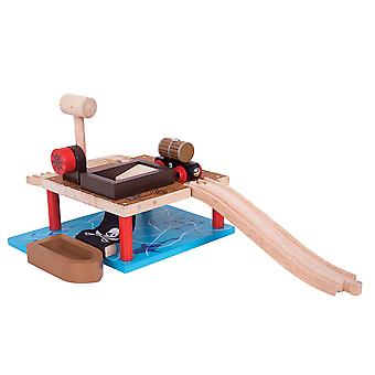 Bigjigs Rail Barrel Drop - Other Major Wooden Rail Brands are Compatible