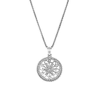 Orphelia Silver 925 Chain With Pendant Circle With Twirl With Zirconium  ZH-7311