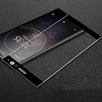 Premium 0.3 mm H9 tempered glass black film for Sony Xperia XA2 ultra protective cover new