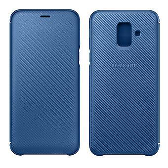 Etui de couverture de portefeuille Samsung EF WA605CLEGWW Galaxy A6 plus 2018 A605F affaire bleu