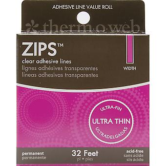 Zips Clear Adhesive Lines-Ultra Thin 1/8
