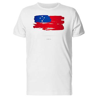 Paint Of The Flag Of Samoa Tee Men's -Image by Shutterstock