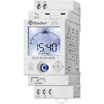 DIN rail mount timer Operating voltage: 230 V AC Finder 12.81.8.230.0000 1 change-over 16 A 250 V AC Astronomical
