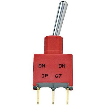 TE Connectivity 3-1825142-1 Toggle switch 250 V AC 2 A 1 x On/Off/On chiusura 1/PC