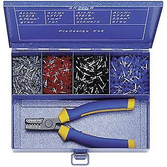 Virola set 0,705 mm² 2,50 mm² gris, rojo, negro, azul Klauke
