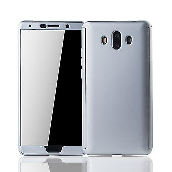 Huawei mate 10 mobile case protection-case full cover tank protection glass silver