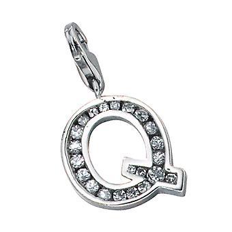 Ciondolo singolo 925 orecchini /-s Q lettera lettere argento Q