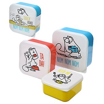 Simon's Cat Set van 3 Lunch Boxes
