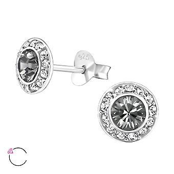 Runda Crystal från Swarovski® - 925 Sterling Silver öra dubbar - W24380x