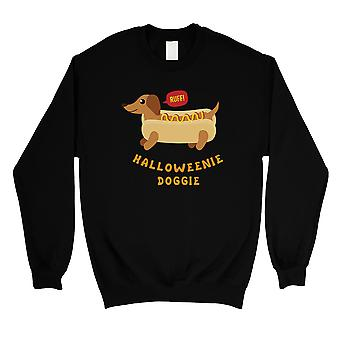Halloweenie Doggie Unisex Black Crewneck Sweatshirt