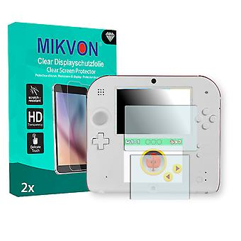 Nintendo 2DS Screen Protector - Mikvon Clear (Retail Package with accessories)