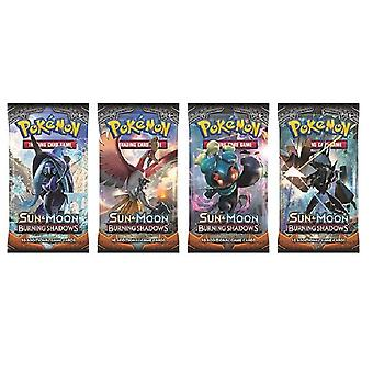 Pokemon Sun & Moon Burning Shadows Booster Cards Card 4-Pack