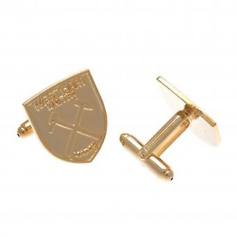 West Ham United Gold Plated Cufflinks