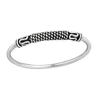 Bali - 925 Sterling Zilver platte ringen - W37143x