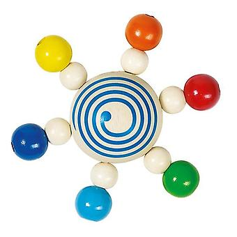 Heimess Touch Ring Rattle Spinning Top With Pearls