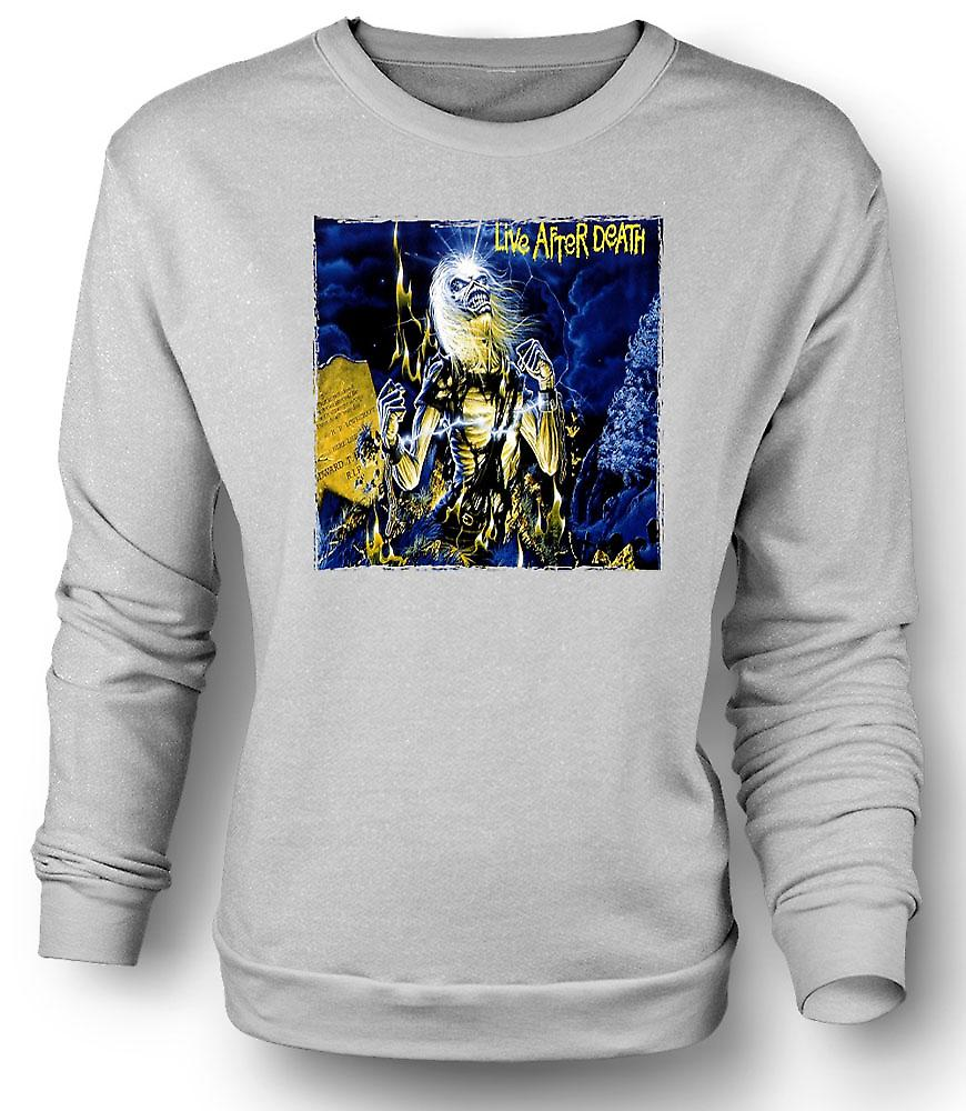 Mens Sweatshirt Iron Maiden - Album-Cover - Leben nach dem Tod
