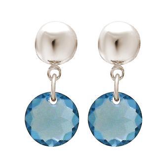 Gemshine damer øredobber aquamarine blå laget med SWAROVSKI ELEMENTS. 925 sølv, gull belagt eller rose - bærekraftig, kvalitet smykker laget i Spania