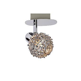 Lucide Kyra-LED clássico Oval Metal cromado teto Spot de luz