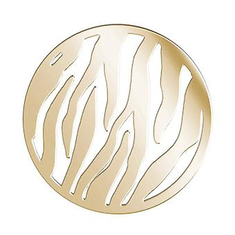 Lucet Mundi Goldtone 'Wild Thing' Coin for Interchangeable Locket Pendant