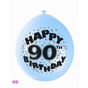 "Balloons 'HAPPY 90th BIRTHDAY' 9"" Latex Balloons (10)"