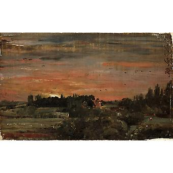 View towards the rectory,John Constable,60x37cm