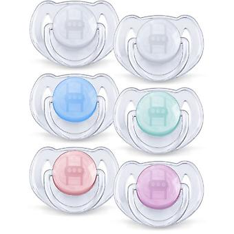 Avent Translucent Classic Pacifiers 6 to 18 Months 2 pcs