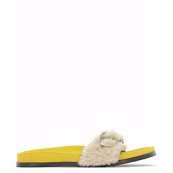 Avec Moderation Yellow Suede Sandals