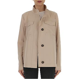 Semi-couture Nude Cotton Outerwear Jacket