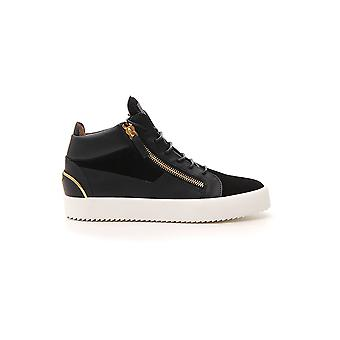 Giuseppe Zanotti Design Black Leather Hi Top Sneakers