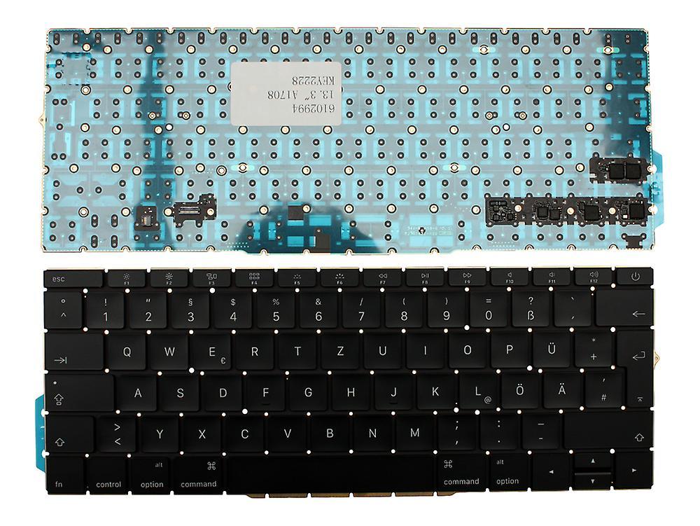 Clavier d'ordinateur portable Apple MacBook Pro A1708 Version rétro-éclairé (sans cadres rétro-éclairés) disposition allehommede noir remplacement