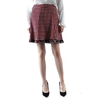 Boutique Moschino Red Wool Skirt