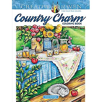 Creative Haven Country Charm Coloring Book by Teresa Goodridge - 9780